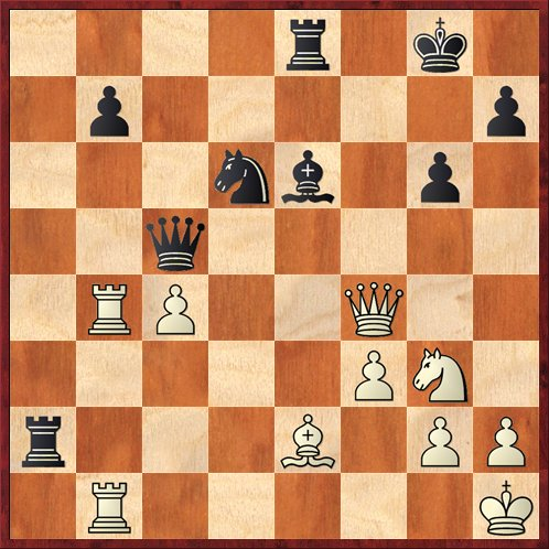 Position after 27. Qxf4. Black to move.