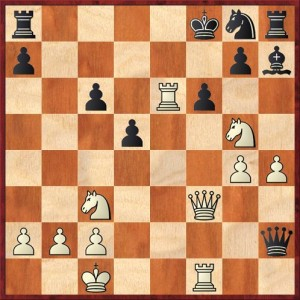 Position after 26. ... Qh2. White to move.