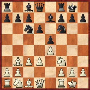 Position after 7. c3. Black to move.