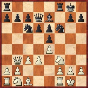 Position after 9. ... Qd7. White to move.
