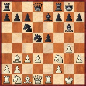 Position after 11. ... Bg6. White to move.