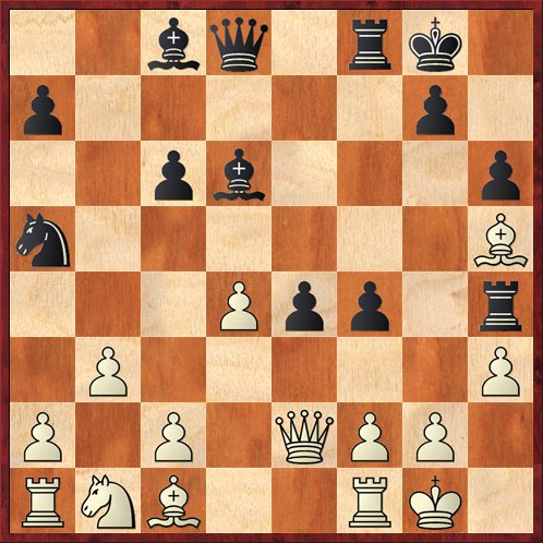Position after 18. ... f4. White to move.