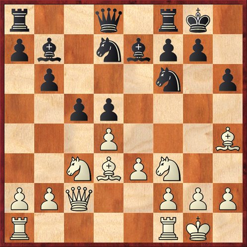 Position after 11. ... Bb7. White to move.